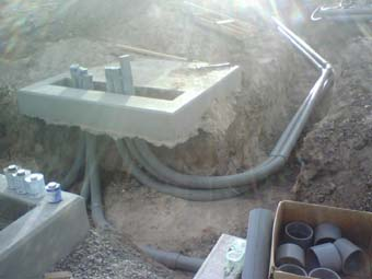 Electrical conduit at New Mexico job site