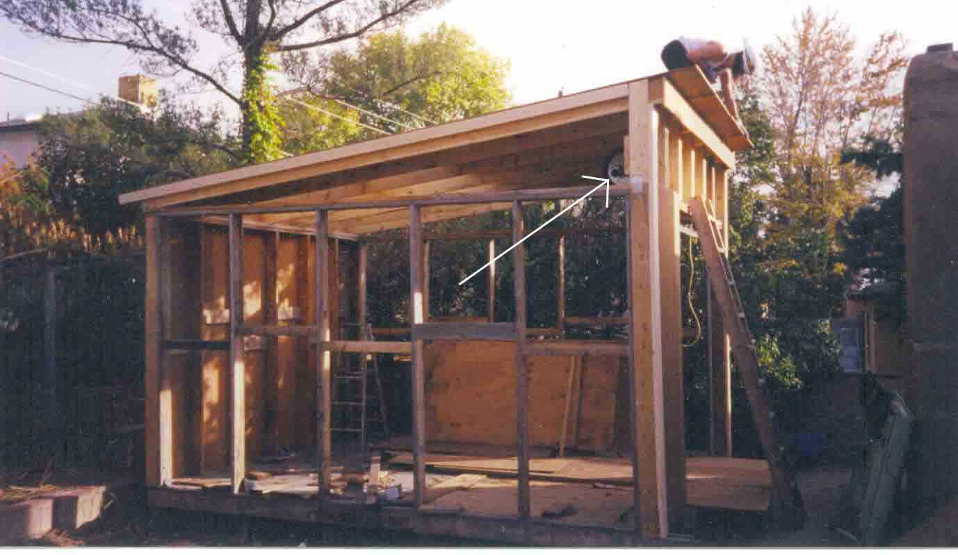 Bench design more shed plans slant roof for Building a shed style roof